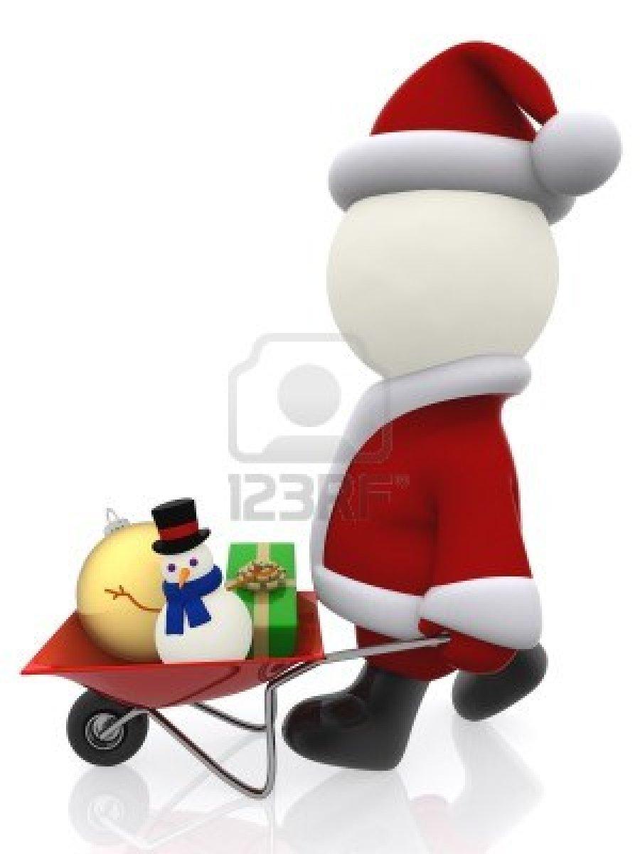15789392-3d-santa-pushing-a-wheelbarrow-with-christmas-stuff--isolated-over-white
